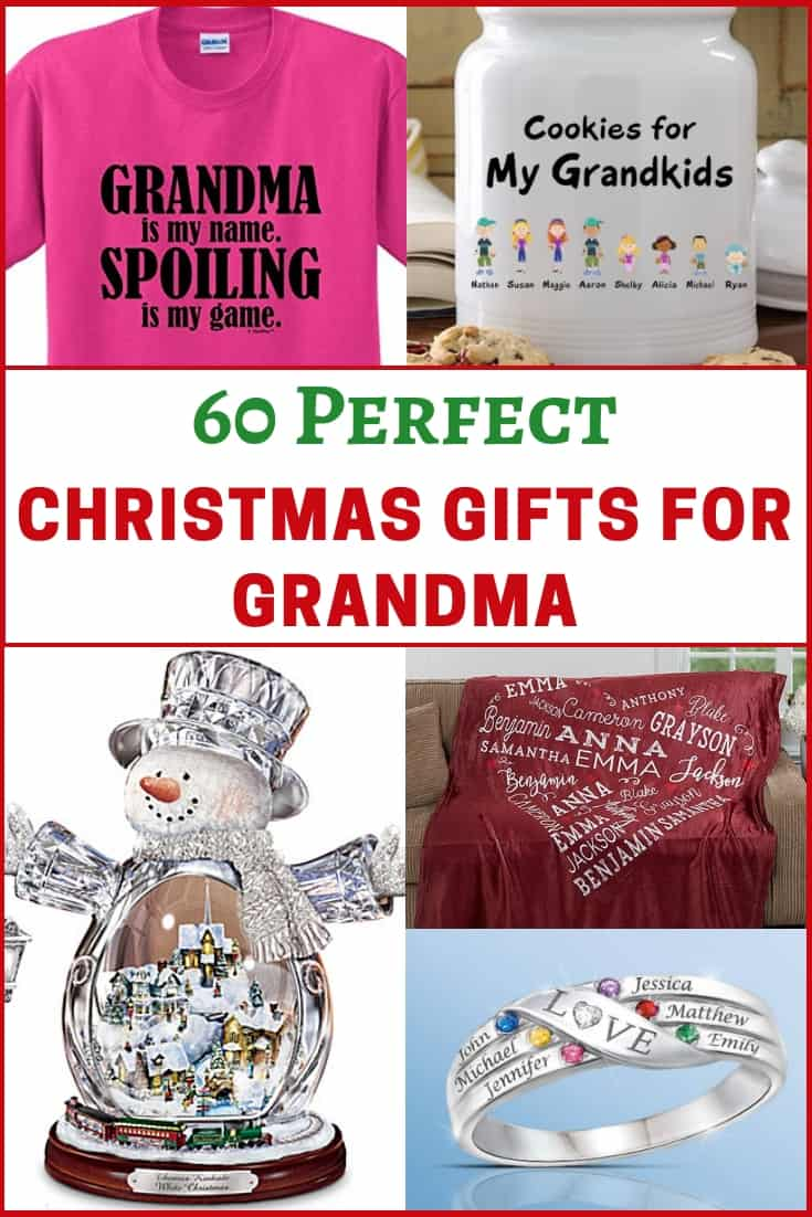 Looking for the best Christmas gift for Grandma?  Delight your grandmother with the perfect present this Christmas.  Click to see 60 gifts that she is sure to love.  #Christmasgifts #giftideas #gifts