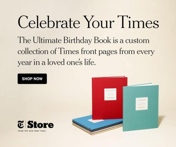 70th Birthday Gifts for Mom - Thrill Mom with The Ultimate Birthday Book from The New York Times!  Unique gift features every birthday front page for her entire life.  Perfect present for the mom who has everything!