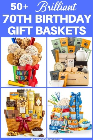 70th Birthday Gift Baskets - Looking for a great birthday gift for the 70 year old who has everything? Surprise them with a delicious 70th birthday gift basket!