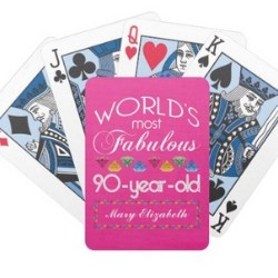 90th Birthday Playing Cards - Choice of 70 Designs