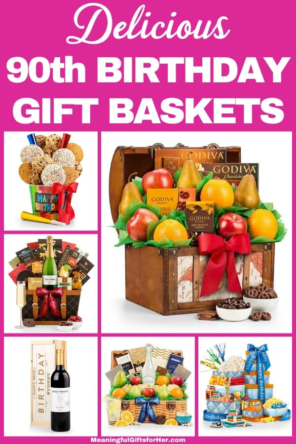 90th Birthday Gift Baskets - Thrill someone special who is turning 90 with a delightful gift basket!  Prices start at under $30...order today.