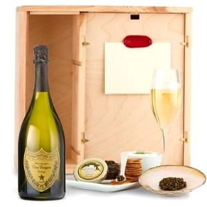 Dom Perignon Ultimate Caviar & Champagne Gift Basket