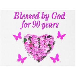 Blessed by God for 90 Years Blanket for Women
