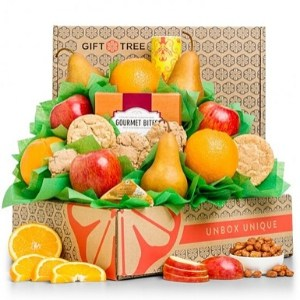 Fresh Fruit & Cookies Gourmet Gift Basket