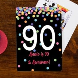 Personalized 90th Birthday Playing Cards for Women