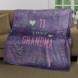 Personalized Reasons Why Blanket with up to 30 Names