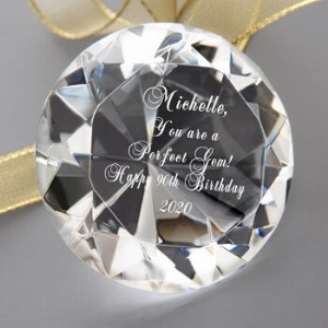 Personalized Perfect Gem Crystal Keepsake
