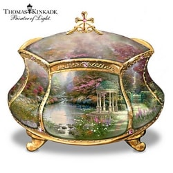 Thomas Kinkade Musical Prayer Box: Garden of Love