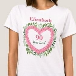 Personalized 90 Years Loved Shirt for Women