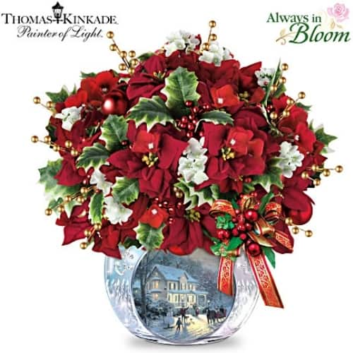 Mother in Law Christmas Ideas - Treat your picky mother in law to this gorgeous Thomas Kinkade lighted Christmas centerpiece!
