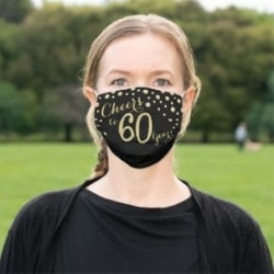60th Birthday Face Mask - Choice of Styles