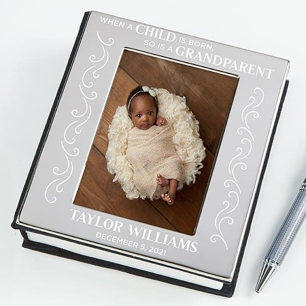 New Grandmother Gift Ideas - Delight the first time grandmother with an elegant baby photo boook!