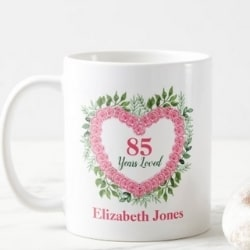 85 Years Loved Personalized Coffee Mug