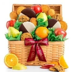 Premium Fruit and Cookies Gift Basket - Ships Free