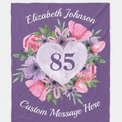 Personalized 85th Birthday Blanket - Choice of Styes