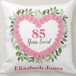 85 Years Loved Personalized Pillow