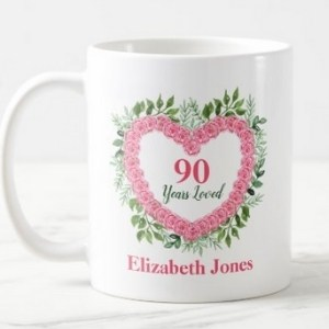 Personalized 90 Years Loved Coffee Mug