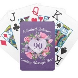 Personalized Large Print Playing Cards - Choice of Styles