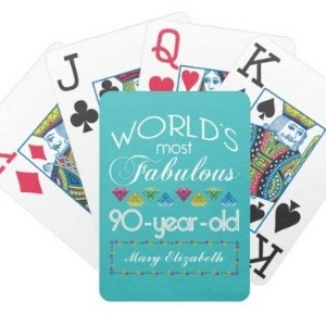 90th Birthday Large Print Playing Cards - Choice of Styles